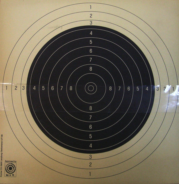 Dianas KROMER, con 10 divisiones ISSF, 50 metros.-0