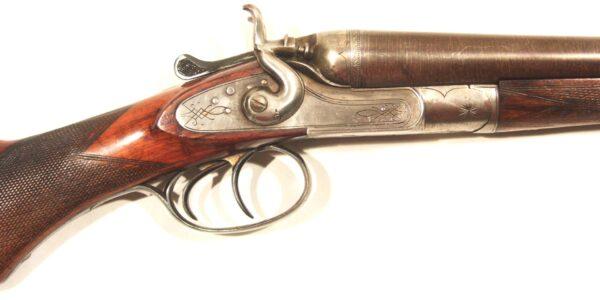 Escopeta O. KIRSCHBAUM, mod. HAMMERS DAMASCUS BARREL, cal.16/50, nº 138475-359