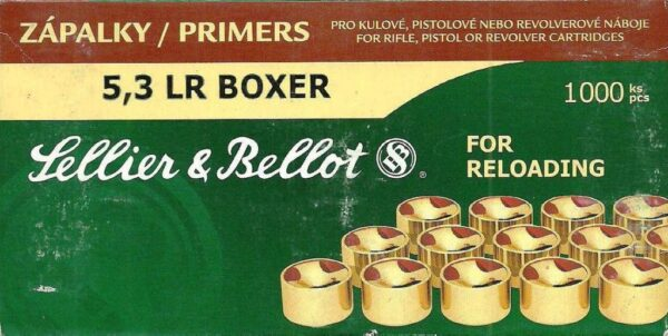 Pistones SELLIER & BELLOT, calibre 5,3 LR Boxer.-0
