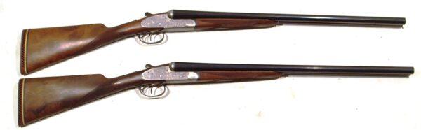 Pareja escopetas I. UGARTECHEA, modelo 1042U, calibre 12, nº 49728 y 49729 -0