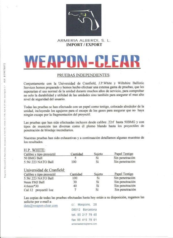 Cajon para descarga de armas BALISTIC SOLUTIONS. modelo PISTOL CLEAR. -700