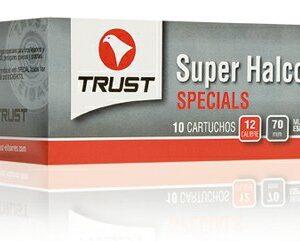 Cartuchos TRUST E., modelo SUPER HALCON GRUESO, calibre 12/70/22, perdigon 00 Cobreado-0