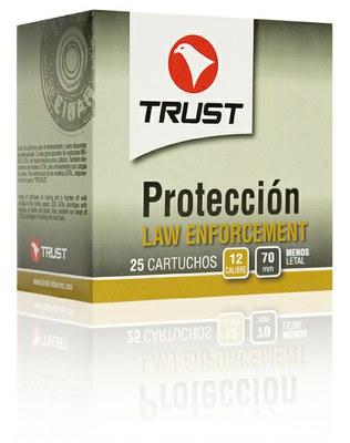 Cartuchos TRUST E., modelo LAW ENFORCEMENT, calibre 12/70/16, 16 postas de goma-0
