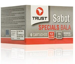 Cartuchos TRUST E., modelo SPECIALS, cal. 12/70/16, bala BRENNEKE RUBIN SABOT-0