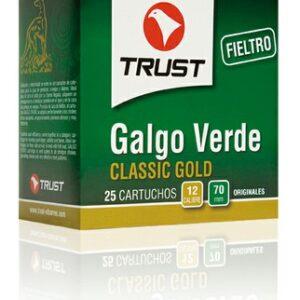 Cartuchos TRUST E., modelo GALGO VERDE, calibre 12/70/16, perdigón del 6 al 10-0