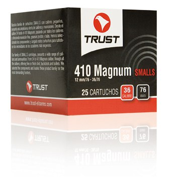 Cartuchos TRUST E., modelo PEQUEÑOS MAGNUM 36/76, calibre 410/76/16, perdigon del 6 al 8.-0