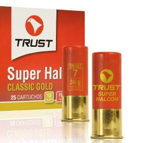 Cartuchos TRUST E., modelo SUPER HALCÓN, calibre 12/70/22, perdigón del 4 al 8. -0