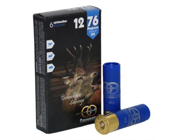 Cartuchos SAUVESTRE, bala FLECHE BFS, calibre 12/76/16-0