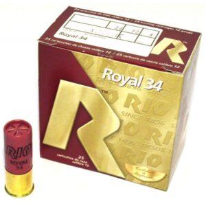 Cartuchos MAXAM, modelo ROYAL 34, calibre 12/70/25, perdigón del 6 al 8-0