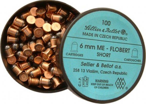 Cartuchos SELLIER & BELLOT, caibre 6 mm. Flobert corto.-0