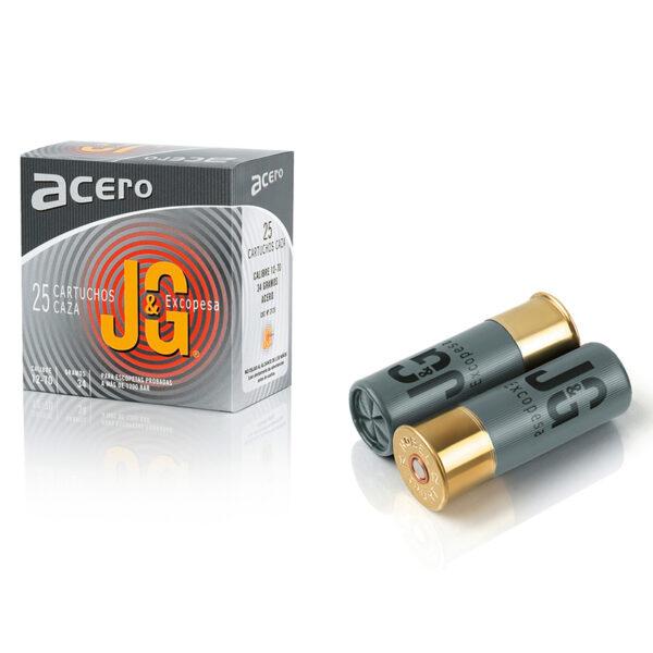 Cartuchos JG, modelo ESPECIAL ACERO, calibre 12/70/16, perdigón 4 acero-0