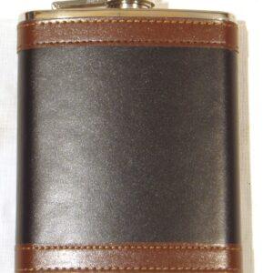 Licorera JKR, forrada en piel, 6 onzas-0