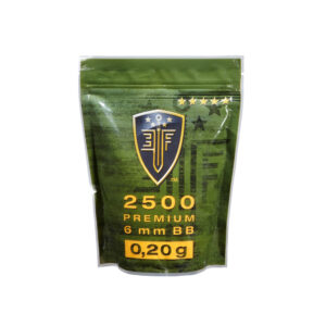 Bolas ELITE FORCE, calibre 6 mm. blancas, 0,20 gr., 2500 u.-0
