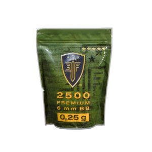 Bolas ELITE FORCE, calibre 6 mm. 0,25 gr., blancas, 2500 u.-0