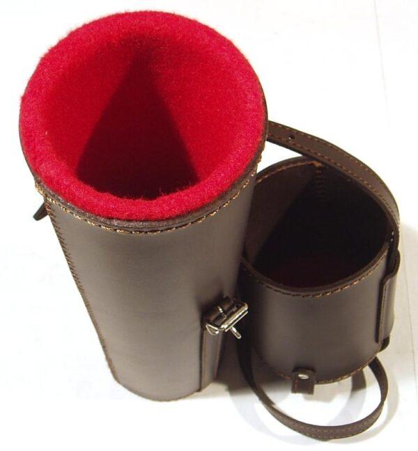 Porta visor JOKER, piel forrada, extensible-1986