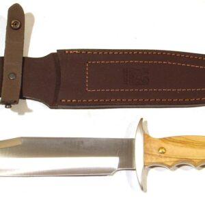 Cuchillo JOKER, modelo BOWIE,mango olivo, 21 centimetros-0