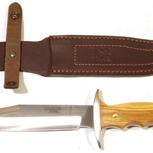 Cuchillo JOKER, modelo BOWIE, mango olivo, 17 centimetros.-0