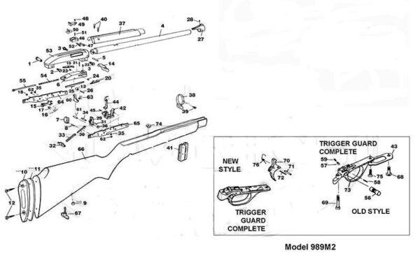 Piezas de recambio carabina Marlin modelo 989M2-0
