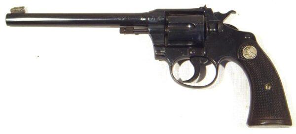 Revolver COLT, modelo POLICE POSITIVE TAGET MODEL (1ª versión), calibre 22 lr., nº 24061-2432