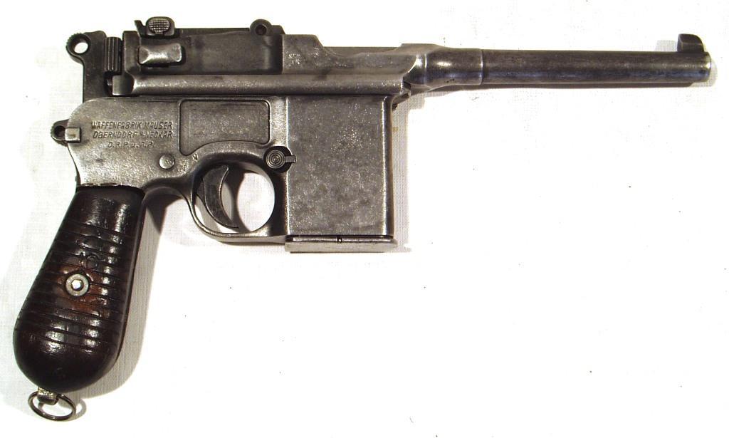 Pistola MAUSER 1896, modelo 1932, tipo 712, calibre 7,63x25, nº 21264-0