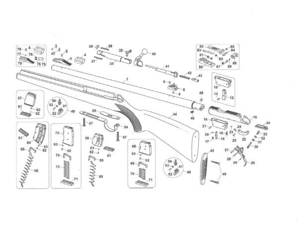 Piezas de recambio para la carabina BRNO, modelo II. calibre 22 lr.-0