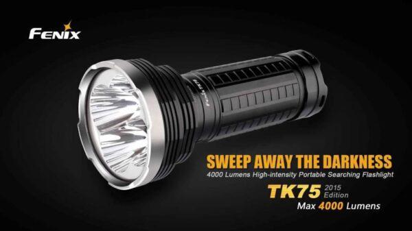 Pack linterna FENIX, modelo TK75, 4000 lumens-2980