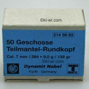 Proyectiles RWS, calibre 7 mm,(.284), SG punta hueca, 9 gramos, (100 u.)-0