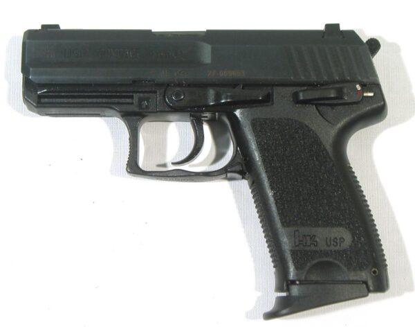 Pistola H&k, modelo USP COMPACT, calibre 9 Pb., nº 27-06953-3205