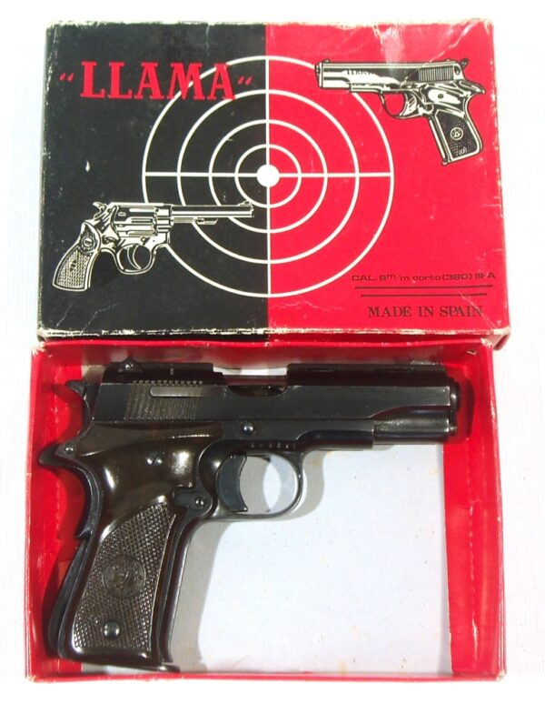 Pistola LLAMA, modelo IIIA, calibre 7,65, nº 646391-3215