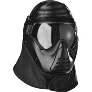Casco protector SIMUNITION, modelo FX 9002 con proteccion nasal, negro-0