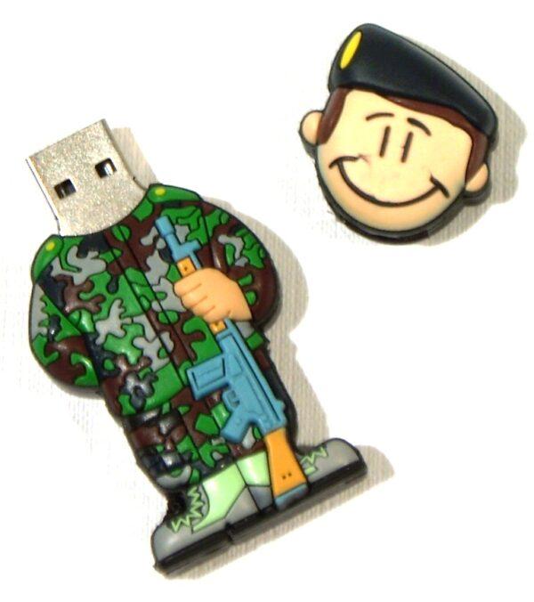 PENDRIVE, USB, 8GB, SOLDADO OTAN-3326