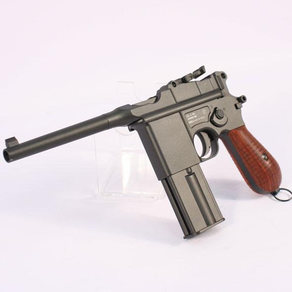 Pistola KWC, modelo 712 BROOMHANDLE, calibre 4,5BB, CO2, Full metal-3341