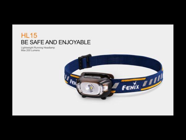 Frontal FENIX, modelo HL15, 200 lumenes, 4 modos y red flash-0