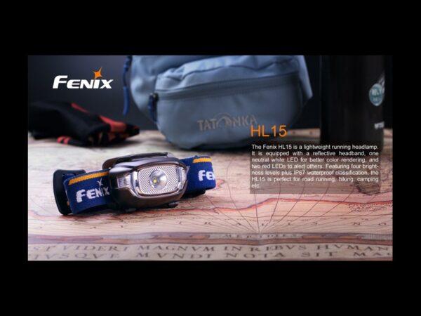 Frontal FENIX, modelo HL15, 200 lumenes, 4 modos y red flash-3707