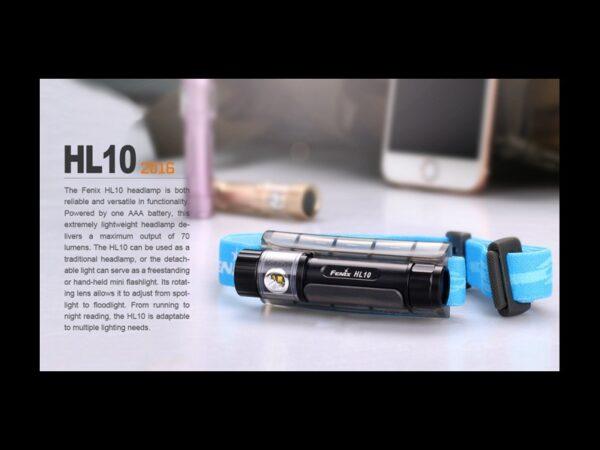 Frontal FENIX, modelo HL10, 70 lumnenes, 3 modos.-3709