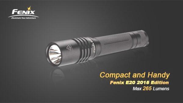 Linterna FENIX, modelo E20, 265 lumenes, 4 modos-3743