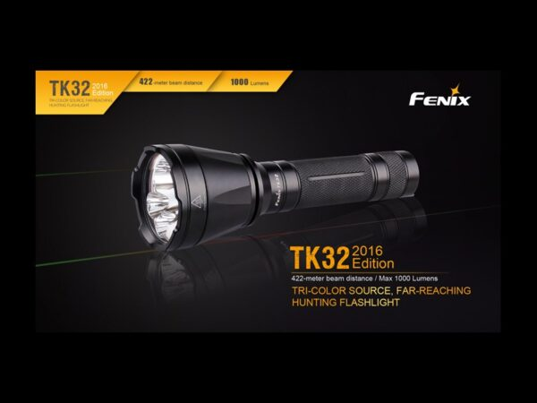 Linterna FENIX, modelo KIT TK32, 1000 lumenes, 4 modos mas rojo y verde-3715