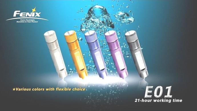 Linterna FENIX, modelo E01N, 13 lumenes-0