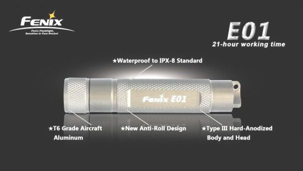 Linterna FENIX, modelo E01N, 13 lumenes-3750