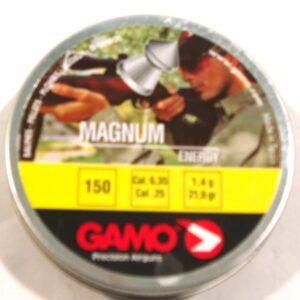 Balines GAMO, modelo MAGNUM. calibre 6,35, (150 u.)-0
