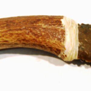 Cuchillo de Silex Bergerac, con mango de Ciervo-0