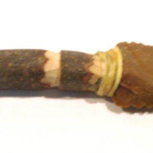 Cuchillo de Silex Bergerac, con mango de Olivo-0