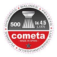 Balines COMETA, cabeza plana, calibre 4,5 (500 ud.)-0