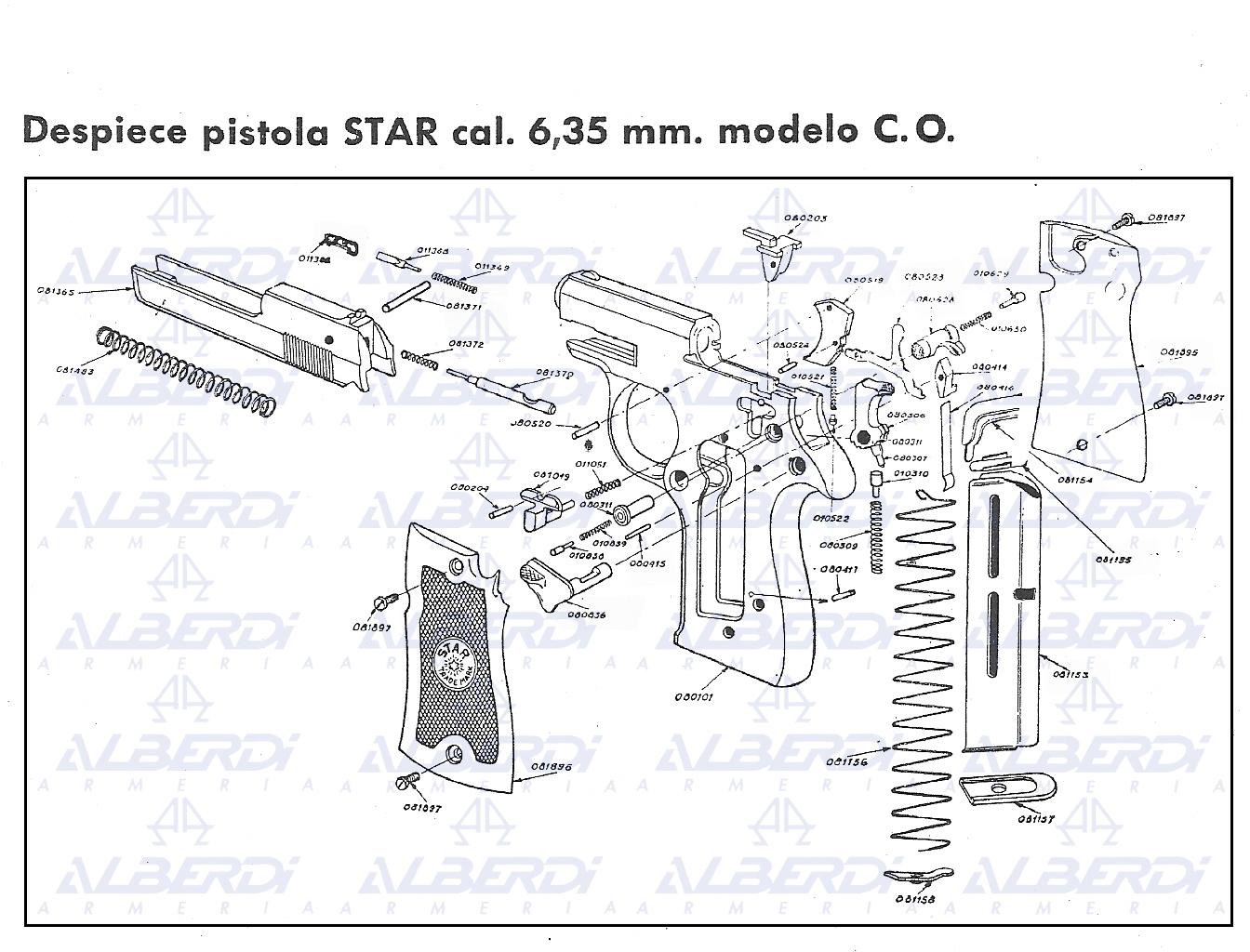 Recambios pistola ASTRA modelo A80