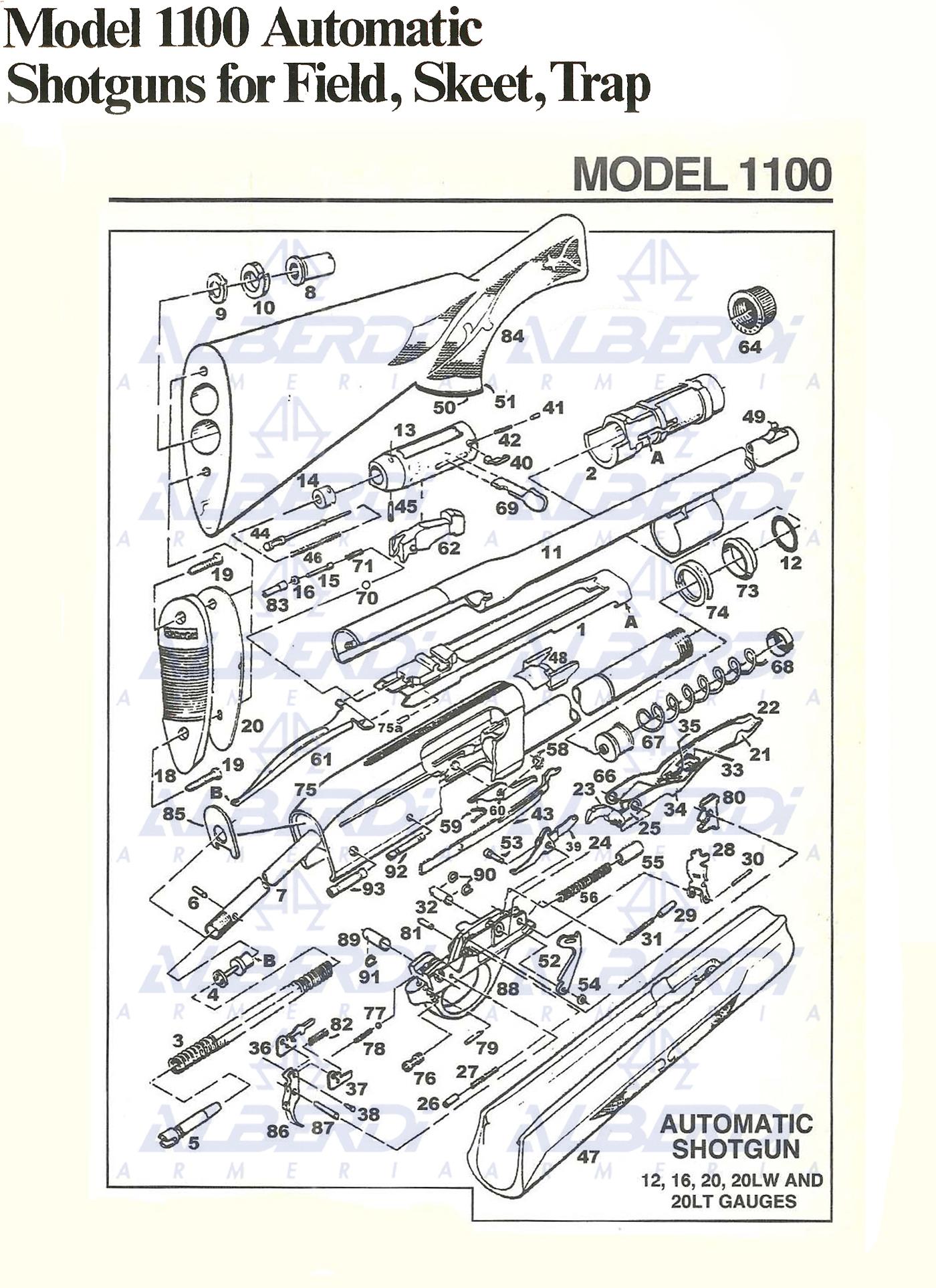 Piezas de recambio para escopetas REMINGTON modelo 1100
