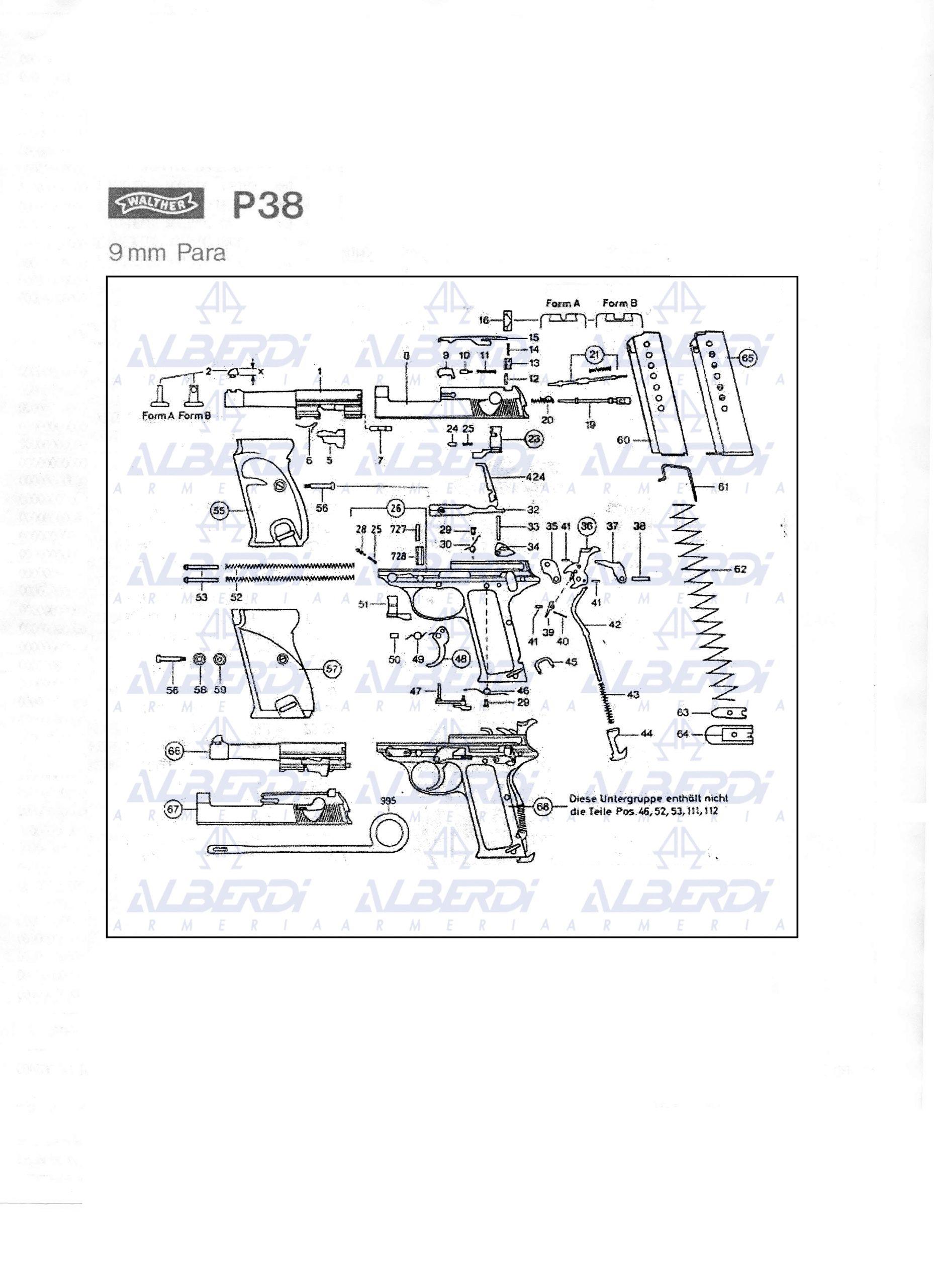 Recambios para pistola WALTHER P38