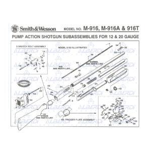 Pizas recambio para escopeta semiautomatica SMITH-WESSON modelo 916A