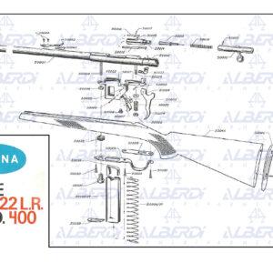 Carabina Onena modelo Piezas de recambio carabina Onena modelo 400400