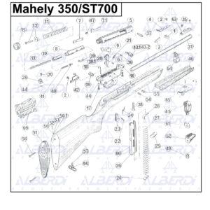 Piezas de recambio Mahely 350/ST700