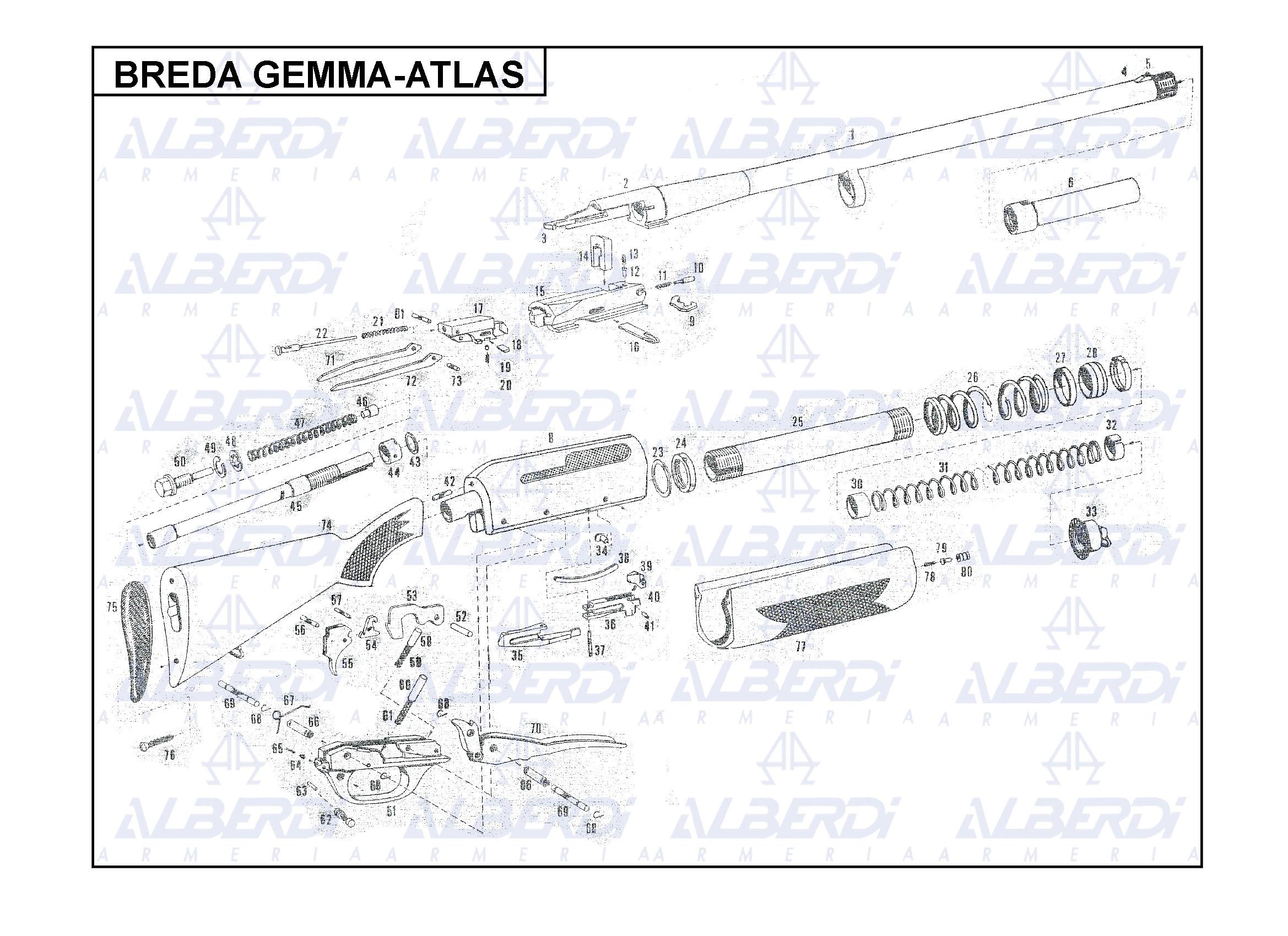 Piezas de recambio Breda Gemma-Atlas